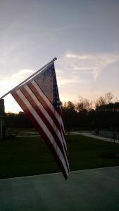 My home flag, hung by Vietnam Veteran Bill Pfaeffle